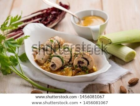 jambon · fotoğraf · lezzetli · maydanoz · beyaz - stok fotoğraf © m-studio