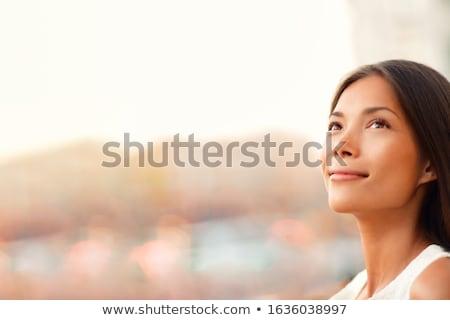 Kadın güzel kahverengi dantel Stok fotoğraf © disorderly
