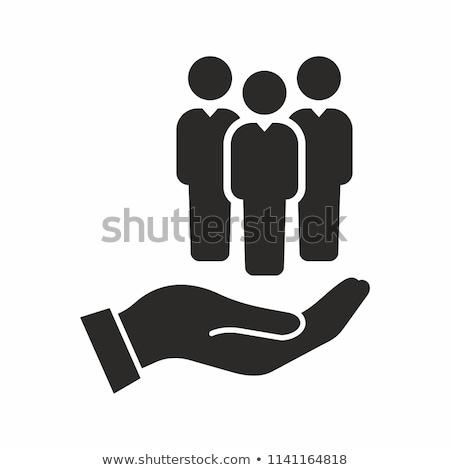 человека ресурсы управления иконки Идея дизайна Сток-фото © kiddaikiddee
