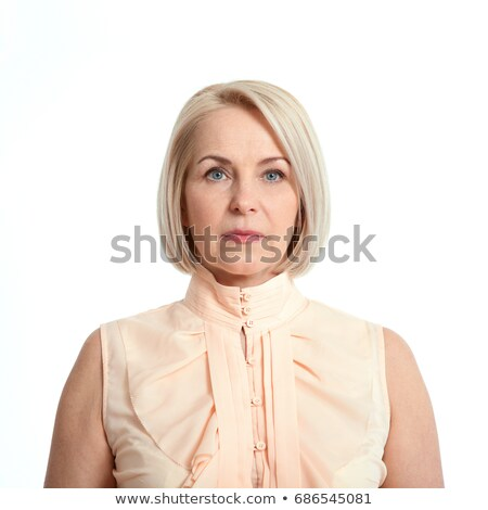 Joli dame sérieux Rechercher jolie femme nude Photo stock © majdansky
