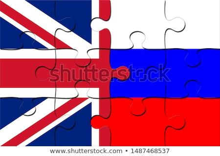 Anglia orosz puzzle vektor kép izolált Stock fotó © Istanbul2009