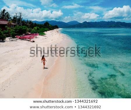 Sea and coastlines of Gili Air, Indonesia Stock photo © JanPietruszka
