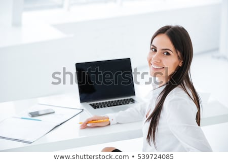 business woman looking back stock photo © fuzzbones0
