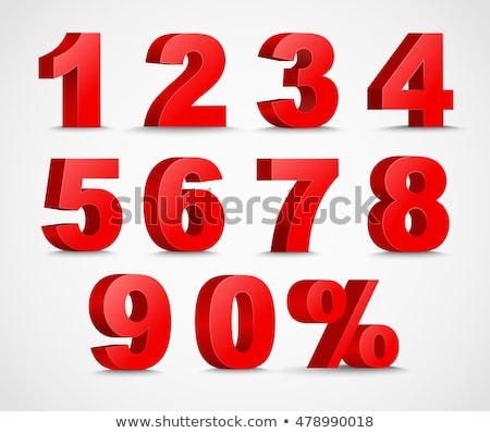 Número vetor vermelho ícone web projeto digital Foto stock © rizwanali3d