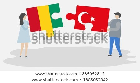Turkey and Guinea Flags in puzzle Stock photo © Istanbul2009