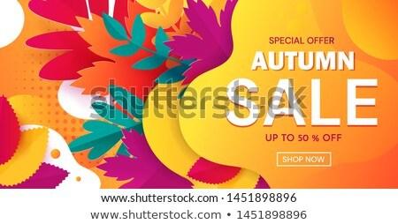 autumn sale notice Stock photo © alexaldo