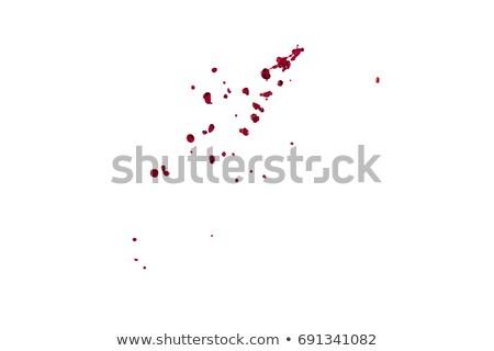Czerwony farby spadek Ripple Zdjęcia stock © daboost