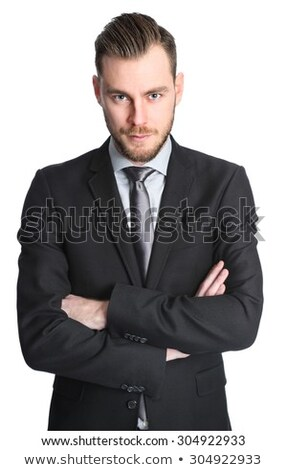 portrait of handsome businessman smiling and making an inviting  Stock photo © feedough