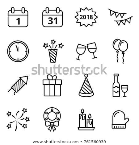 vector christmas and new year icon set stock photo © tele52