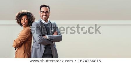 два Бизнес-партнеры служба улыбка человека работу Сток-фото © Minervastock