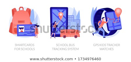Smartcards for schools concept vector illustration. Stock fotó © RAStudio