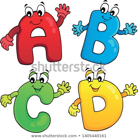 Cartoon ABCD letters theme 2 Stock photo © clairev