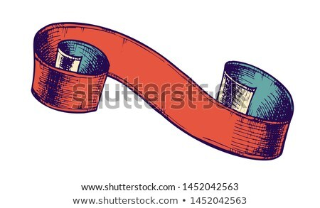 Color Curled Classic Advertising Ribbon Doodle Vector Stock photo © pikepicture