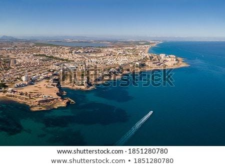 Aerial panoramic photography coastline of Torrevieja, Spain Stock photo © amok