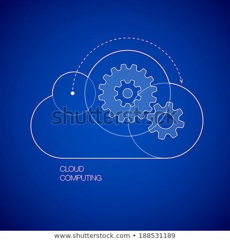 Cog versnellingen wolk Blauw digitale composiet hemel Stockfoto © wavebreak_media