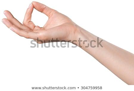 Jóga pozició kéz fehér sport egészség Stock fotó © Lopolo
