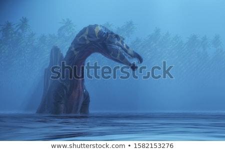 Meer 3d render illustratie bos natuur storm Stockfoto © orla