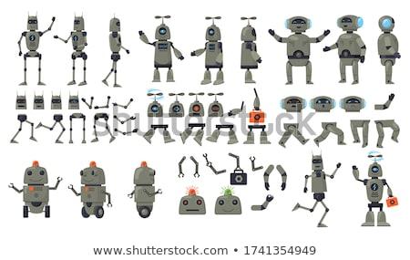 Mechanisme onderdelen ingesteld illustratie productie automatisering Stockfoto © jossdiim