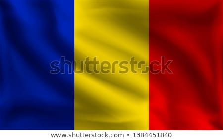 Romênia bandeira branco amor coração fundo Foto stock © butenkow