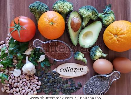 Gıda zengin kollajen sağlıklı ürünleri güzel Stok fotoğraf © furmanphoto