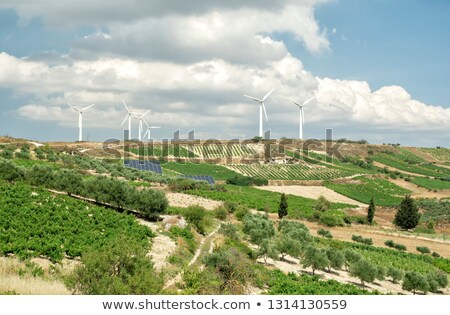 Vento gerador ilha Grécia verde Foto stock © dmitry_rukhlenko