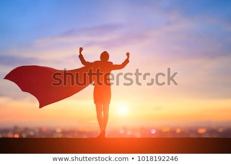 Powerful Super Businesswoman Stock photo © Kakigori