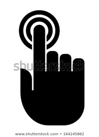 Kéz érintőképernyő ujjlenyomatok jövő technológia hálózat Stock fotó © dolgachov