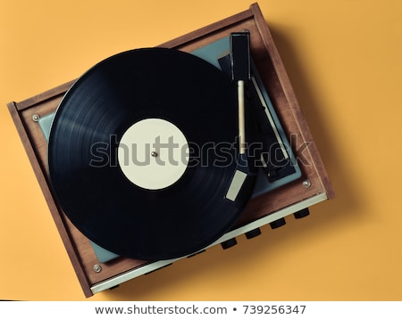 Closeup of vintage turntable, view from above Stock photo © ozaiachin