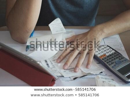 Сток-фото: деньги · женщину · сидят · столе