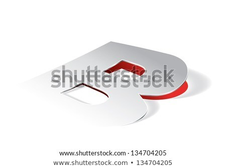 Paper folding with letter B in perspective view Stock photo © archymeder