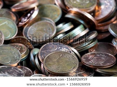 pile of euro coins Stock photo © neirfy