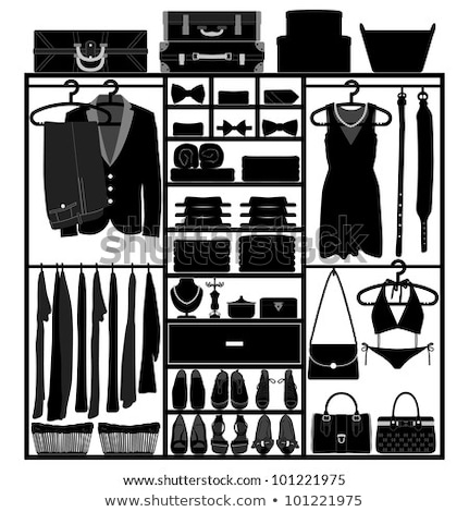 Rack vêtements mode femme design lumière Photo stock © lunamarina