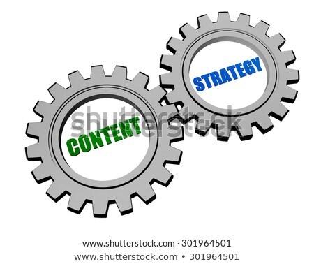 Media woorden zilver grijs versnellingen internet Stockfoto © marinini