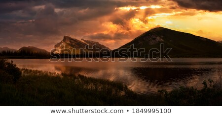 Dramatic Clouds Reflection in Vermilion Lake Stock photo © jameswheeler
