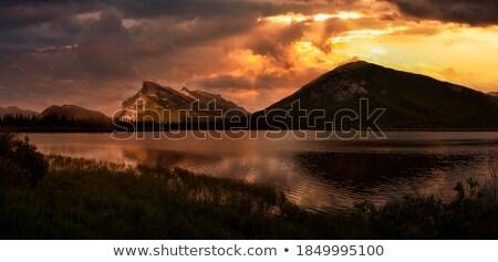 dramatic clouds reflection in vermilion lake stock photo © jameswheeler