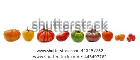 Variedade tomates vintage vermelho tigela comida Foto stock © BarbaraNeveu