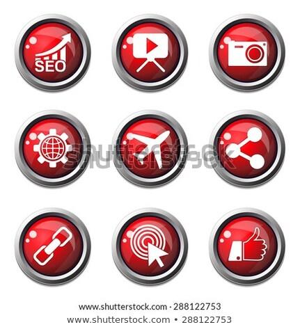 vector · Rood · web · icon · knop - stockfoto © rizwanali3d