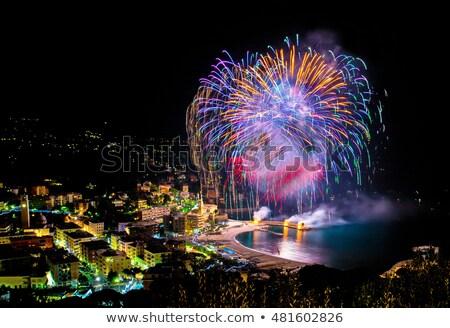 fogos · de · artifício · Itália · evento · tarde · verão · festa - foto stock © Fotografiche