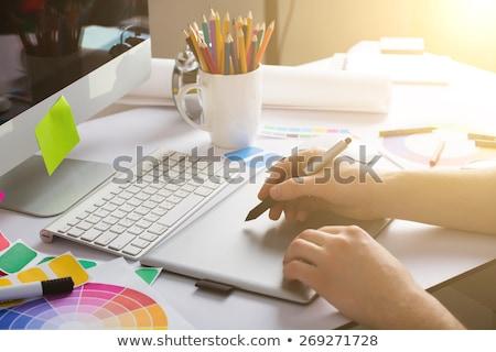 человека · дизайнера · рабочих · графических · таблетка - Сток-фото © wavebreak_media