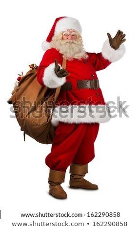 Christmas Santa Claus big gift in hands Stock photo © LoopAll