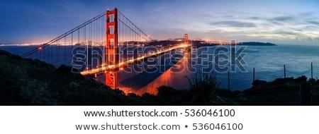 Panoráma San Francisco délután fény Golden Gate híd híd Stock fotó © meinzahn