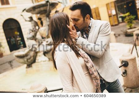 amoroso · casal · juntos · Roma · Itália · homem - foto stock © boggy