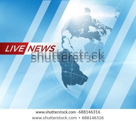 élet rendkívüli hírek konzerv használt terv televízió Stock fotó © m_pavlov