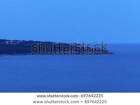 mimari · gün · batımı · gökyüzü · şehir · manzara · mavi - stok fotoğraf © benkrut