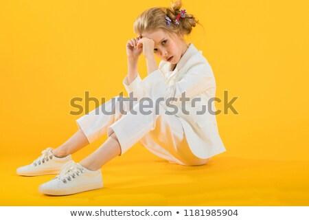 белый одежды ног вперед Сток-фото © Traimak