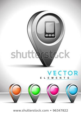 Contacto mapa iconos aislado blanco Foto stock © Oakozhan