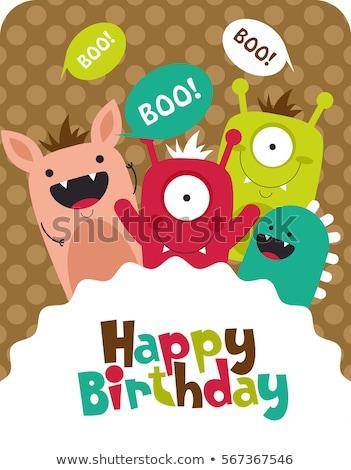 Cartoon Ogre Celebrating Stock photo © cthoman