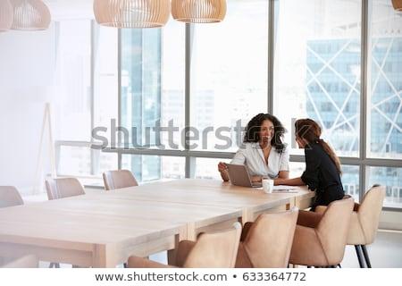 twee · onderneemsters · business · paar · baan · manager - stockfoto © minervastock