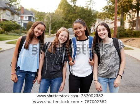 Pre teen girl at school Stock photo © Lopolo