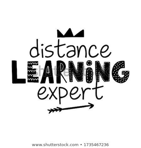 Szó kifejezés tanul online tanár laptop Stock fotó © colematt